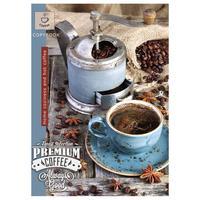 Бизнес-тетрадь Проф-пресс Крепкий кофе А4 96 листов разноцветная в клетку на скрепке (173x200 мм)