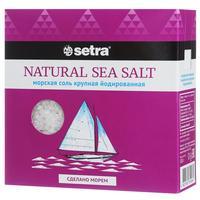 Соль Setra морская натуральная крупная йодированная 500 г