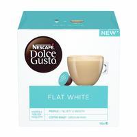 Кофе в капсулах для кофемашин Nescafe Dolce Gusto Flat White (16 штук в упаковке)