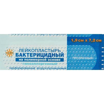 Пластырь бактерицидный Leiko plaster 7.2x1.9 см на полимерной основе (прозрачный, 1000 штук)