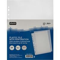 Файл-вкладыш Attache Selection А4+ 90 мкм прозрачный гладкий 10 штук в упаковке