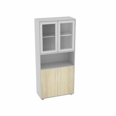 Шкаф с остекленением широкий (шамони, 826х370х1807 мм)