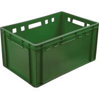 Ящик (лоток) мясной из ПНД 600х400х300 мм зеленый ударопрочный
