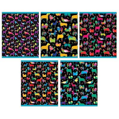 Тетрадь общая Канц-Эксмо Яркие собачки А5 96 листов в клетку на скрепке (обложка в ассортименте)