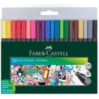 Набор капиллярных ручек Faber-Castell Grip Finepen 20 цветов