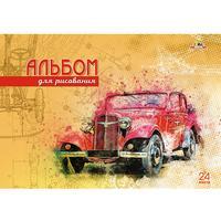 Альбом для рисования Апплика Красное авто А4 24 листа