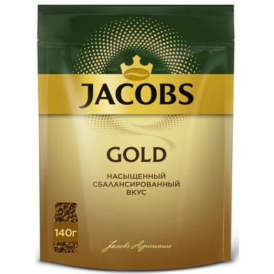 Кофе растворимый Jacobs Gold 140 г (пакет)