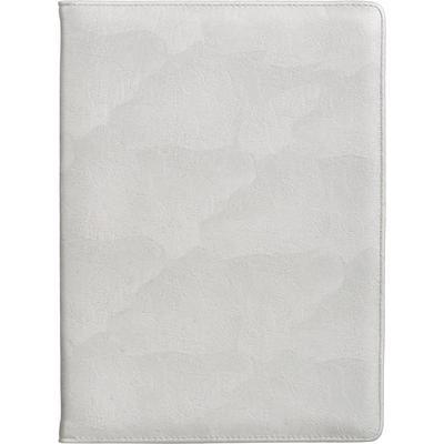 Папка для конференций Алекс из искусственной кожи серебристого цвета (1098/2)