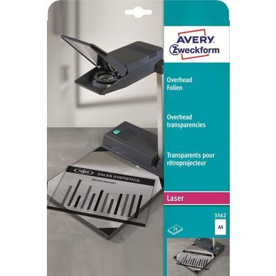 Пленка для проекторов Avery Zweckform AZ3562 прозрачная А4 (25 листов, артикул производителя AZ3562)