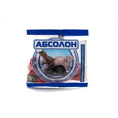 Средство от грызунов Абсолон тесто-брикеты 100 г
