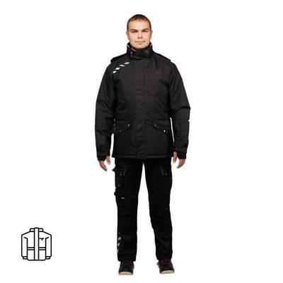 Куртка рабочая зимняя Dimex Attitude с СОП черная (размер 2XL, 58-60, рост 182-186)
