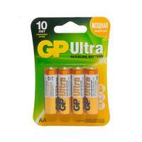 Батарейки GP Ultra пальчиковые AA LR6 (4штуки в упаковке)
