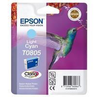 Картридж струйный Epson T0805 C13T08054011 светло-голубой оригинальный