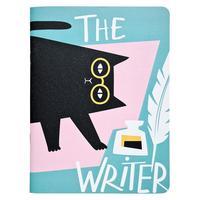 Тетрадь общая Be Smart Writer Кот А5+ 48 листов в клетку на скрепке