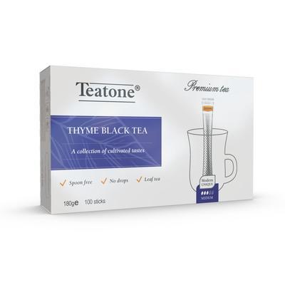 Чай Teatone черный с чабрецом 100 стиков