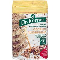 Хлебцы Dr.Korner Овсяно-пшеничные со льном и кунжутом многозерновые 100 г