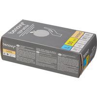 Перчатки одноразовые Benovy латексные неопудренные бежевые (размер L, 100 штук/50 пар в упаковке)