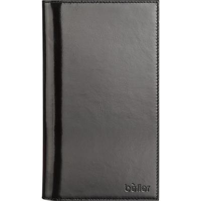 Визитница настольная Befler натуральная кожа на 120 визиток черная