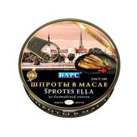 Шпроты Барс из балтийской кильки в масле 160 г