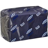 Салфетки бумажные Luscan Profi Pack 24х24 синие 1-слойные 400 штук в  упаковке