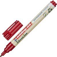 Маркер перманентный Edding EcoLine 25/2 красный (толщина линии 1 мм) круглый наконечник