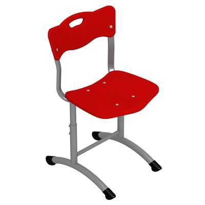 Стул ученический Stand-up (красный/серый, рост 3-5)