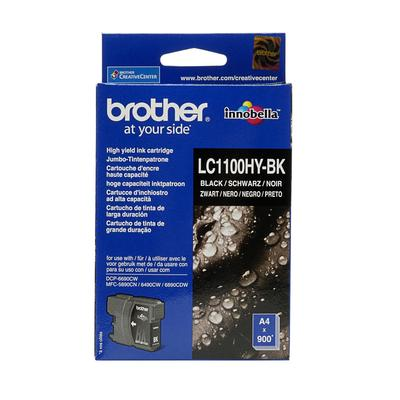 Картридж струйный Brother LC1100HYBK черный оригинальный повышенной емкости