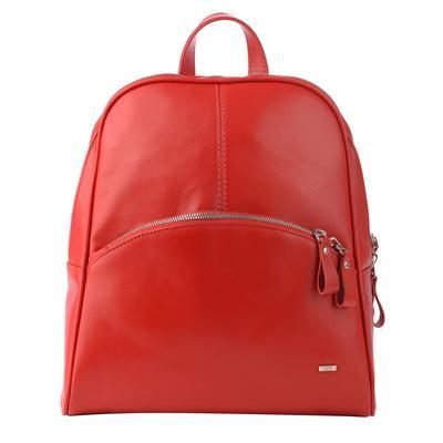 Рюкзак женский Esse Бритни Мини Red из натуральной кожи красного цвета (56250)