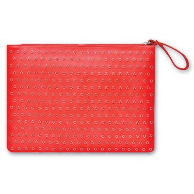 Папка-конверт на молнии Escalada A4+ красная 200 мкм