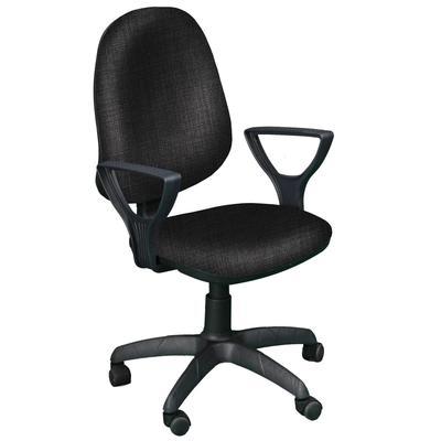 Кресло офисное Prestige черное (ткань, пластик)