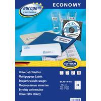 Этикетки самоклеящиеся Europe 100 белые 70x37.1 мм (24 штуки на листе А4, 18 листов, артикул производителя ELA011-18)