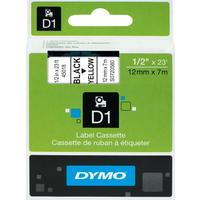 Картридж для принтера этикеток DYMO S0720580 D1 (12 мм x 7 м, цвет ленты желтый, шрифт черный)