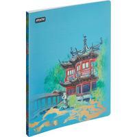 Папка с зажимом Attache Selection Travel China А4+ 0.5 мм голубая с рисунком (до 120 листов)