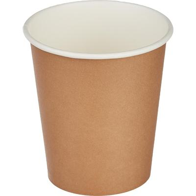 Стакан одноразовый бумажный 200 мл коричневый 50 штук в упаковке Комус Стандарт