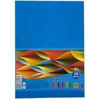 Картон цветной Апплика (А4, 20 листов, 1 цвет, немелованный, С2672-03)