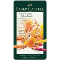 Карандаши цветные Faber-Castell Polychromos 12 цветов в металлической упаковке