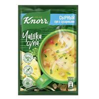 Суп Knorr сырный с сухариками 30 штук по 15.6  г