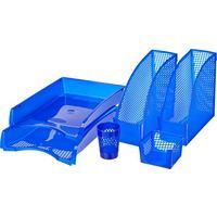 Набор настольный Attache пластиковый 6 предметов синий
