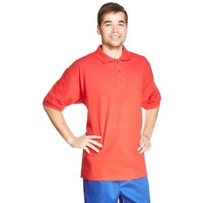 Рубашка Поло (190 г), короткий рукав, красный (XXL)