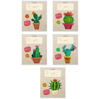 Тетрадь школьная Проф-пресс Пластилиновые кактусы А5 18 листов в клетку (обложка в ассортименте)