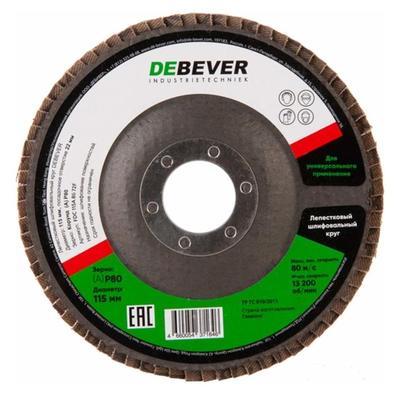 Круг лепестковый торцевой 115x22 Al P80 Debever FDC115AO80 72F