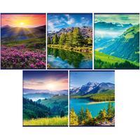 Тетрадь общая Academy Style Горные пейзажи Грин А5 80 листов в линейку на скрепке (обложка в ассортименте)