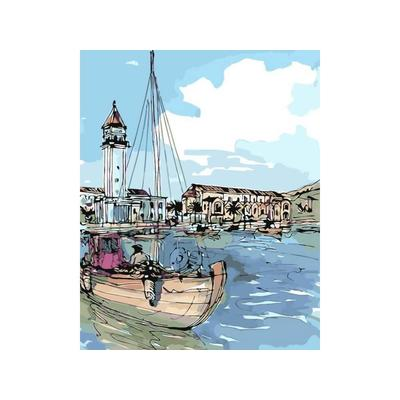 Картина по номерам Цветной Приморский город