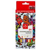 Карандаши цветные Koh-I-Noor Teenage 24 цвета шестигранные с точилкой