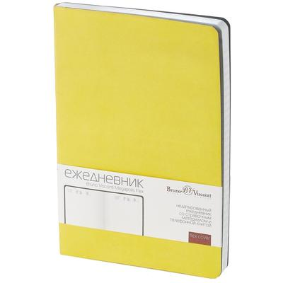 Ежедневник недатированный Bruno Visconti Megapolis Flex искусственная кожа A5 136 листов желтый (140х210 мм) (артикул производителя 3-531/14)