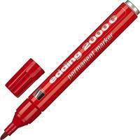Маркер перманентный Edding E-2000C/2 красный (толщина линии 1,5-3 мм) круглый наконечник металлический корпус