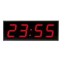 Часы настенные Импульс Электронное табло 410-EURO-R-ETN-NTP (44x16x6 см)