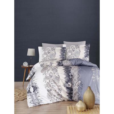 Постельное белье DO&CO Vesta серое (2-спальное с европростыней, 2 наволочки 50x70 см, 2 наволочки 70x70 см, сатин)