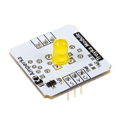 Светодиод 5 мм желтый Troyka-модуль