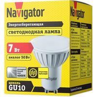 Лампа светодиодная Navigator 7 Вт GU10 рефлектор 4000 К нейтральный белый свет
